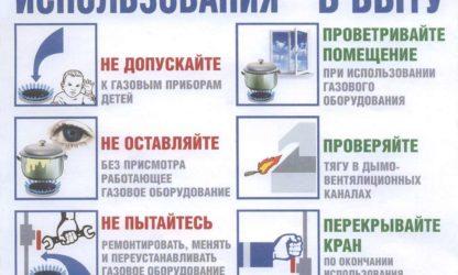 Правила использования газа в быту